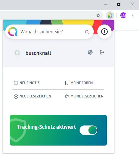 Screenshot 1 - Qwant für Chrome
