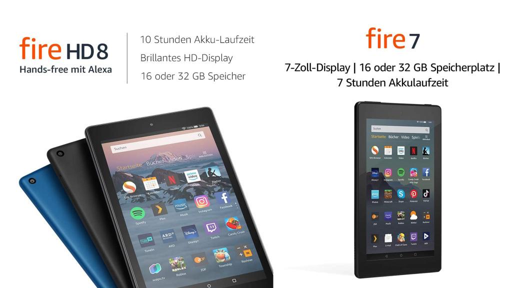 Amazon Fire HD und Fire Kids Edition stark reduziert!