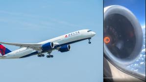 Kaputtes Triebwerk beim Delta-Flug©Delta Air Line / Logan Webb @Micahlifa
