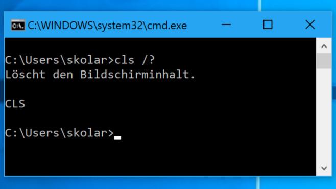 """Windows 7/8/10: CLS-Befehl """"löscht den Bildschirminhalt"""" – was bedeutet das?©COMPUTER BILD"""