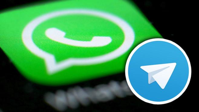 WhatsApp und Telegram©WhatsApp / Telegram