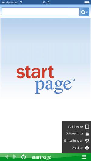 Screenshot 1 - StartPage (App für iPhone & iPad)