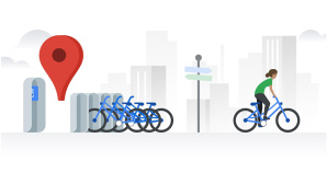 Google Maps mit Bike-Sharing-Funktion © Google