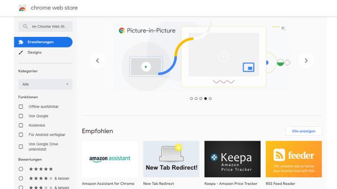 Google Chrome Web Store©Google