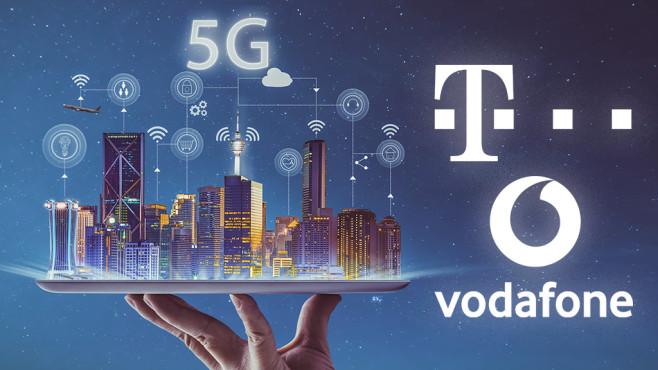 5G-Tarife©Telekom, Vodafone, iStock.com/jamesteohart