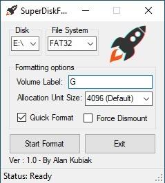 SuperDiskFormatter
