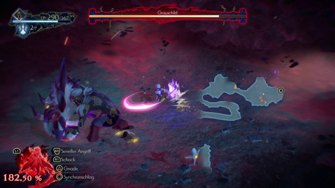 Oninaki: Wiedergeboren! Die Bosskämpfe sind bereits auf dem normalen Schwierigkeitsgrad angenehm fordernd.©Square Enix