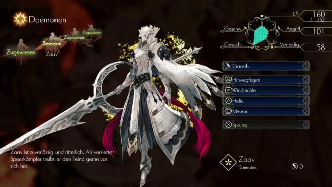 Oninaki: Wiedergeboren! Ihre Daemonen besitzen bis zu vier Spezialattacken, die Sie während des Kampfes einsetzen.©Square Enix