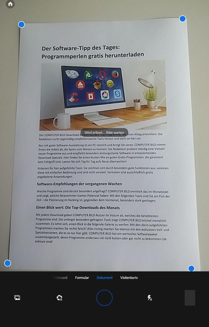 Screenshot 1 - Adobe Scan (App für iPhone & iPad)
