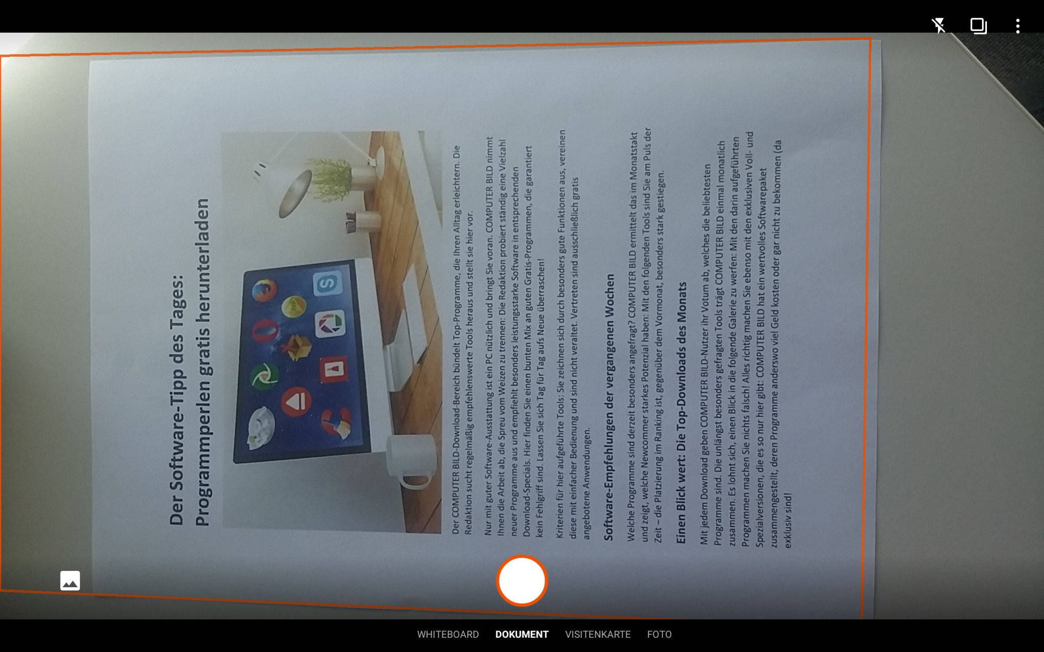 Screenshot 1 - Microsoft Office Lens (App für iPhone & iPad)
