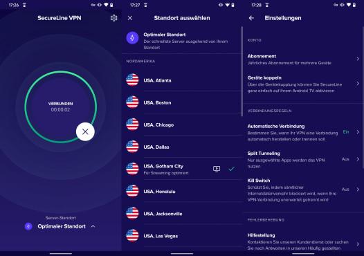 Avast SecureLine VPN: Android©Avast/Google