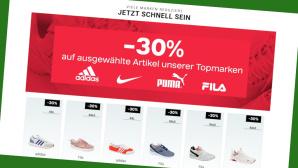 Deichmann: 30 Prozent Rabatt beim Sneaker-Sale©Screenshot www.deichmann.de