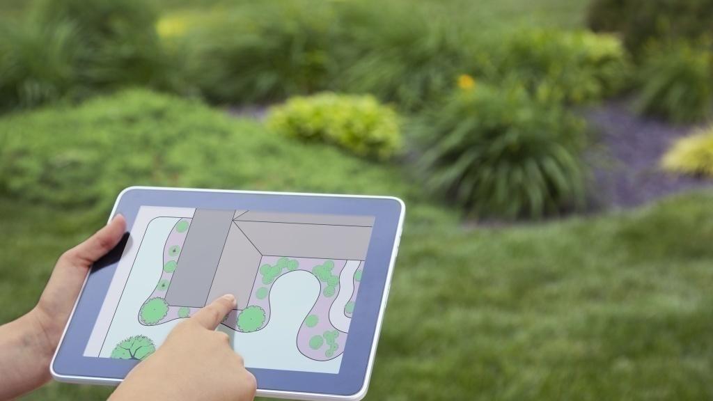 Gartenplaner Software Computer Bild