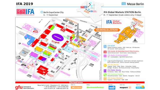 Hallenplan der IFA 2019©IFA, Messe Berlin