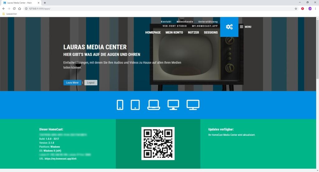 Screenshot 1 - HomeCast Media Center