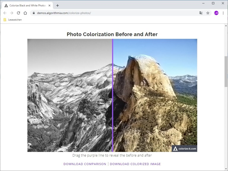 Screenshot 1 - Colorize Photos