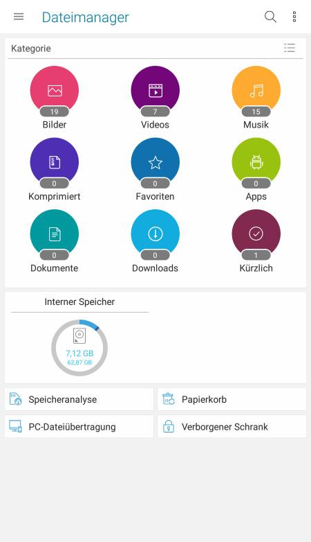 Screenshot 1 - Asus File Manager (APK)