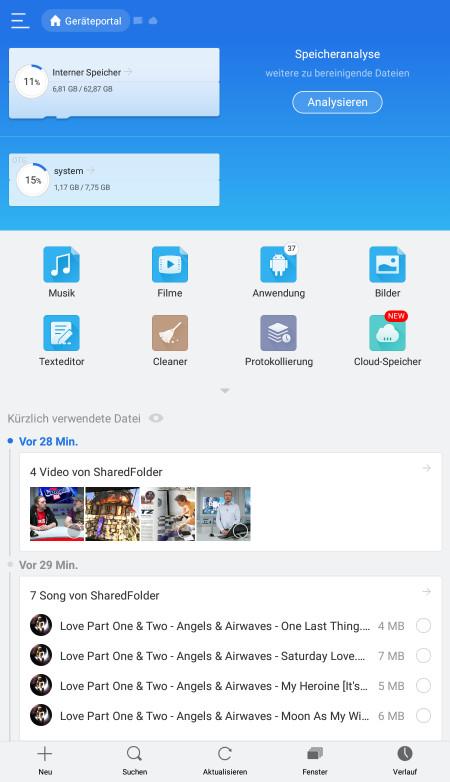 Screenshot 1 - ES Datei Explorer (APK)