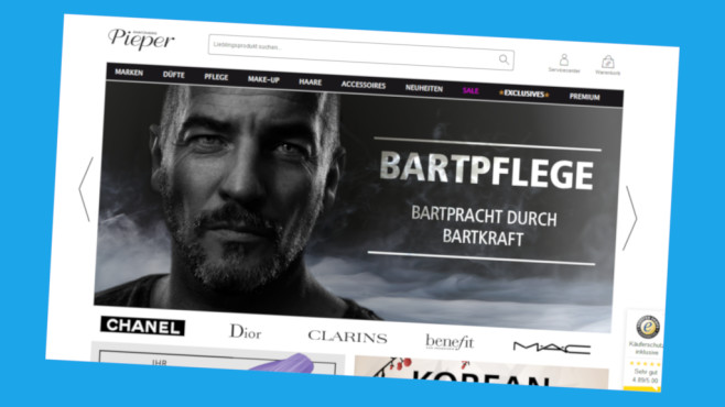 Gutscheinaktion bei Pillashop©PR/Screenshot www.parfuemerie-pieper.de