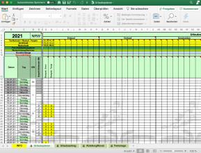 Urlaubsplaner (Excel-Vorlage)