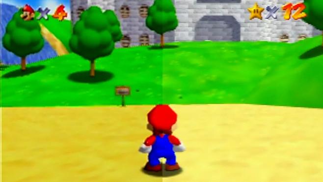 Super Mario 64 in zwei Versionen©EOS