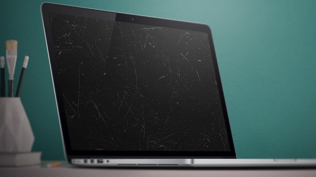 Macbook-Display zerkratzt: Reinigung mit Folgen