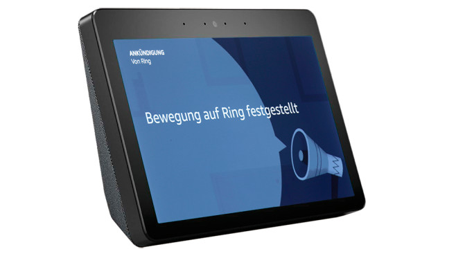 Ring-Meldung auf dem Amazon Echo Show © Amazon, Ring