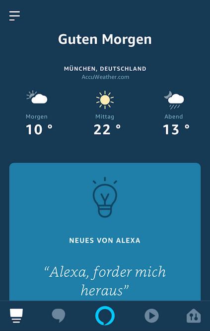 Screenshot 1 - Amazon Alexa (Android-App)