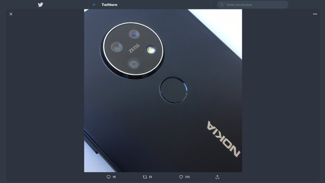 Rückseite des Nokia 7.2©Nokia / Zeiss / Joachim Kuss