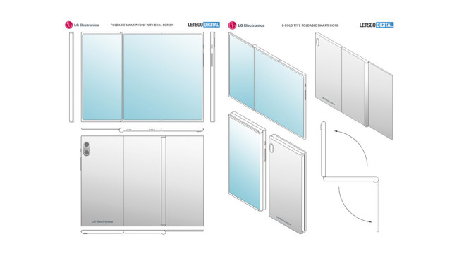 Patent des LG-Falthandys©Screenshot: COMPUTER BILD, Quelle: notebookchek.com