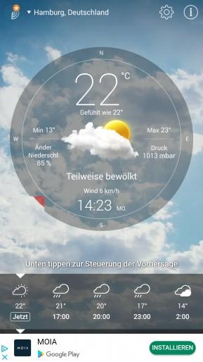 Wetter Live (App für iPhone & iPad)