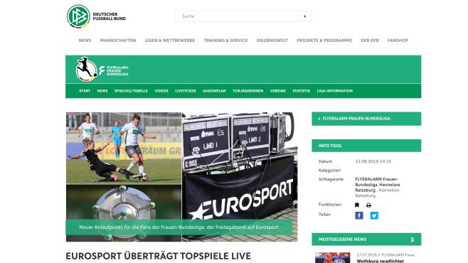 Internetseite Deutscher Fußball-Bund©Deutscher Fußball-Bund