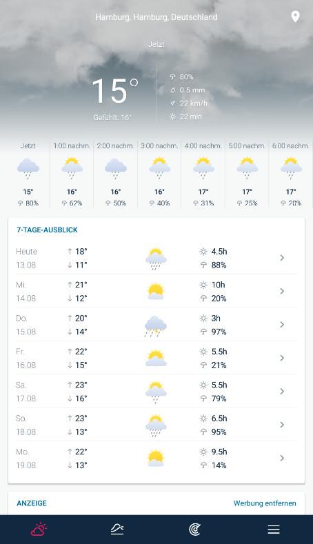 Screenshot 1 - WeatherPro (App für iPhone & iPad)