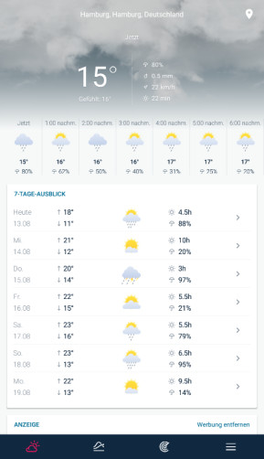 WeatherPro (App für iPhone & iPad)
