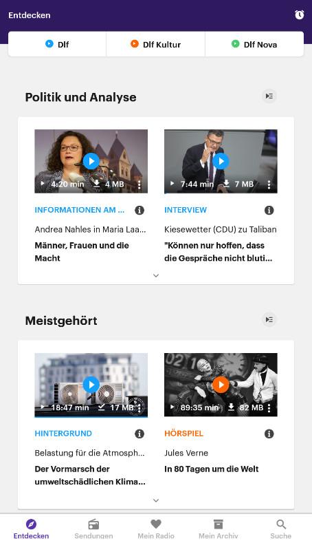 Screenshot 1 - Dlf Audiothek (Android-App)