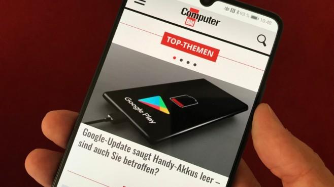 computerbild.de auf Smartphone-Display©COMPUTER BILD