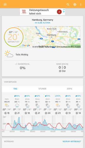 Weather Underground (Android-App)
