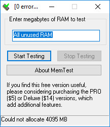 Screenshot 1 - MemTest