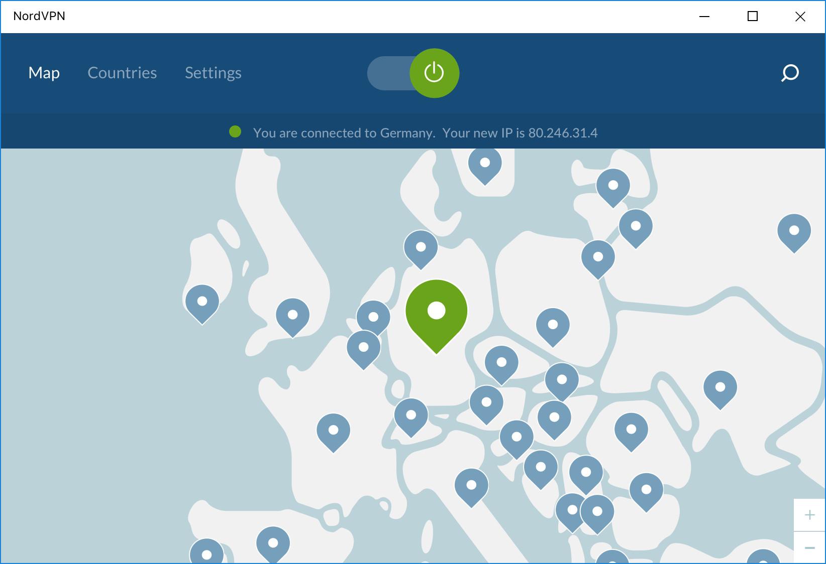 Screenshot 1 - NordVPN