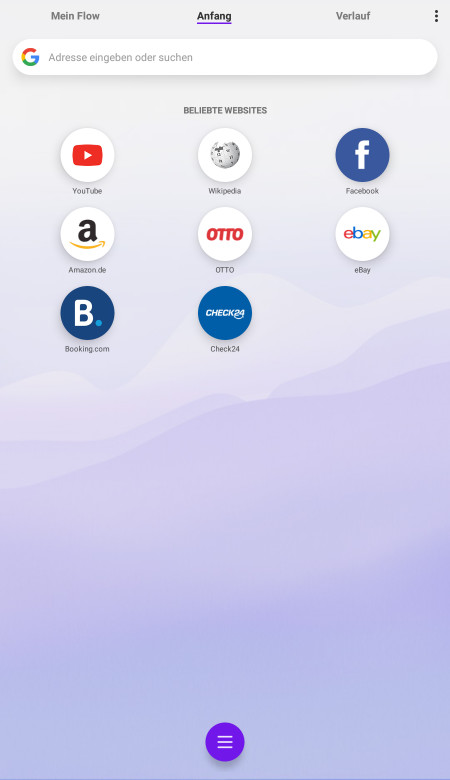 Screenshot 1 - Opera Touch (Android-App)