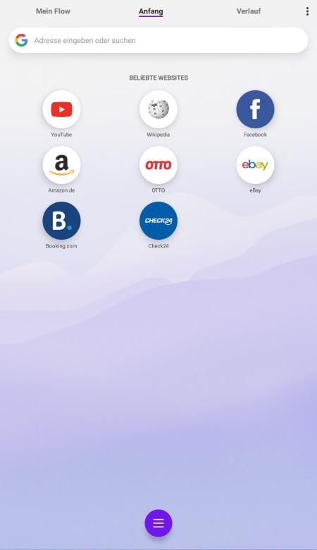 Screenshot 1 - Opera Touch (App für iPhone & iPad)
