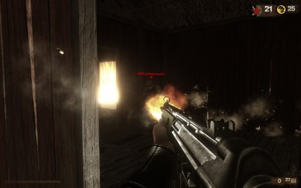 Actionspiel Far Cry 2: Holzwand