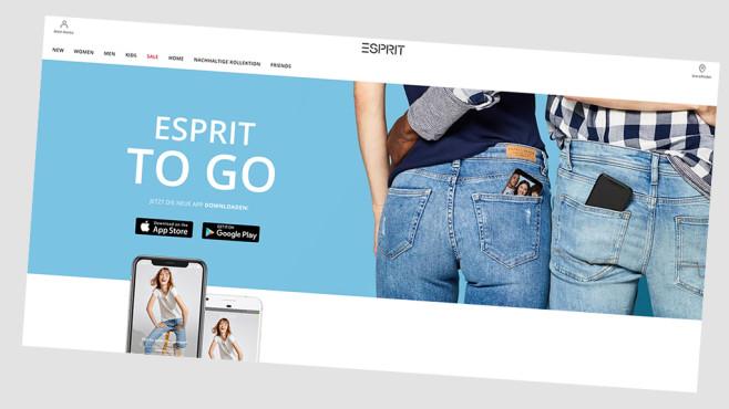 Online-Rabatt mit Esprit-App sichern©www.esprit.com/Screenshot