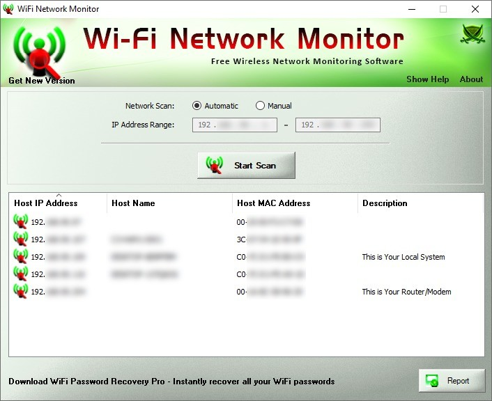 Screenshot 1 - Wi-Fi Network Monitor
