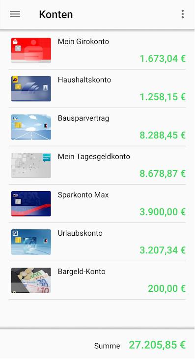 Screenshot 1 - Finanzblick (Android-App)