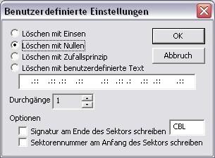Screenshot 1 - CBL Daten-Schredder
