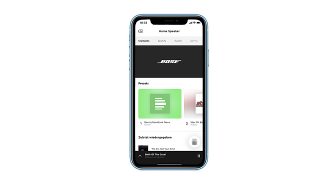 Bose Home Speaker 300: App im Detail©Apple, Bose