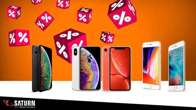Saturn Smartphone-Purzelpreise für iPhones©Saturn/Apple