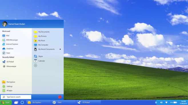 Windows XP 2019 Edition © YouTube / Avdan