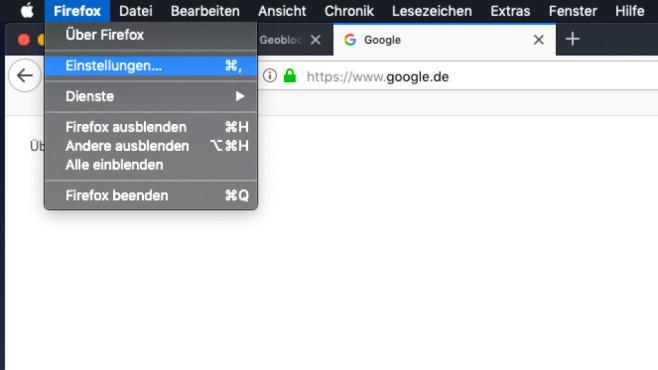 Firefox: Einstellungen öffnen©COMPUTER BILD